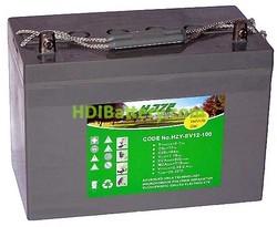 Batería para carro de golf 12v 100ah Gel HZY-EV12-100 HAZE